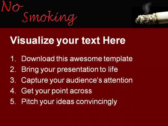 Cigarette No Smoking Health Powerpoint Templates And Powerpoint