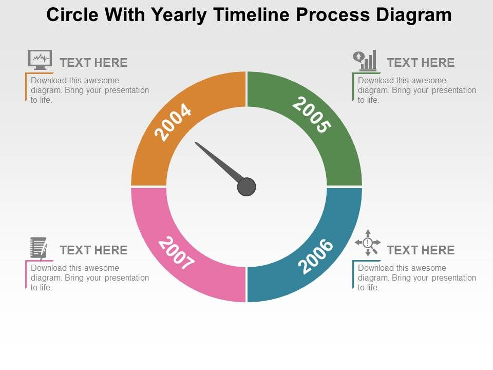 Circle with yearly timeline process diagram flat powerpoint design circlewithyearlytimelineprocessdiagramflatpowerpointdesignslide01 circlewithyearlytimelineprocessdiagramflatpowerpointdesignslide02 toneelgroepblik Image collections