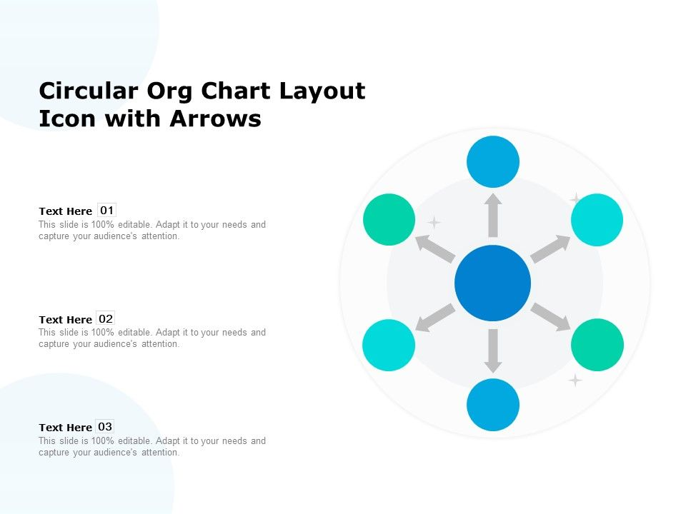 Circular Org Chart Layout Icon With Arrows