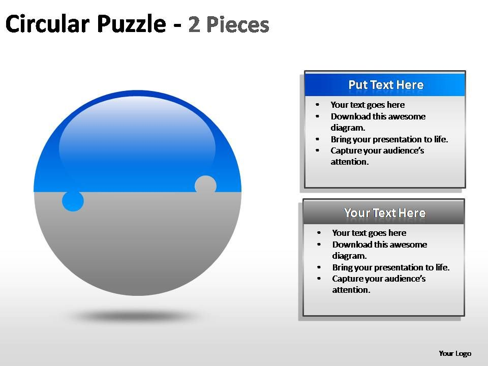 Circular puzzle 2 and 3 pieces powerpoint presentation slides slide03