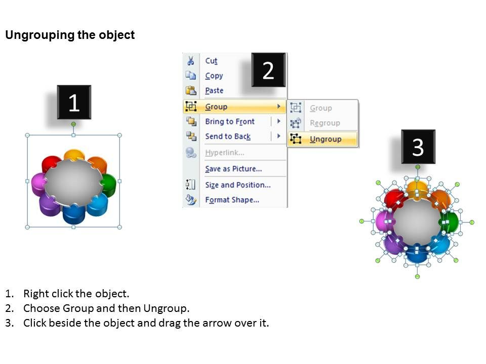 Circular Puzzle 8 Pieces Process Powerpoint Slides And Ppt Templates Db Slide11