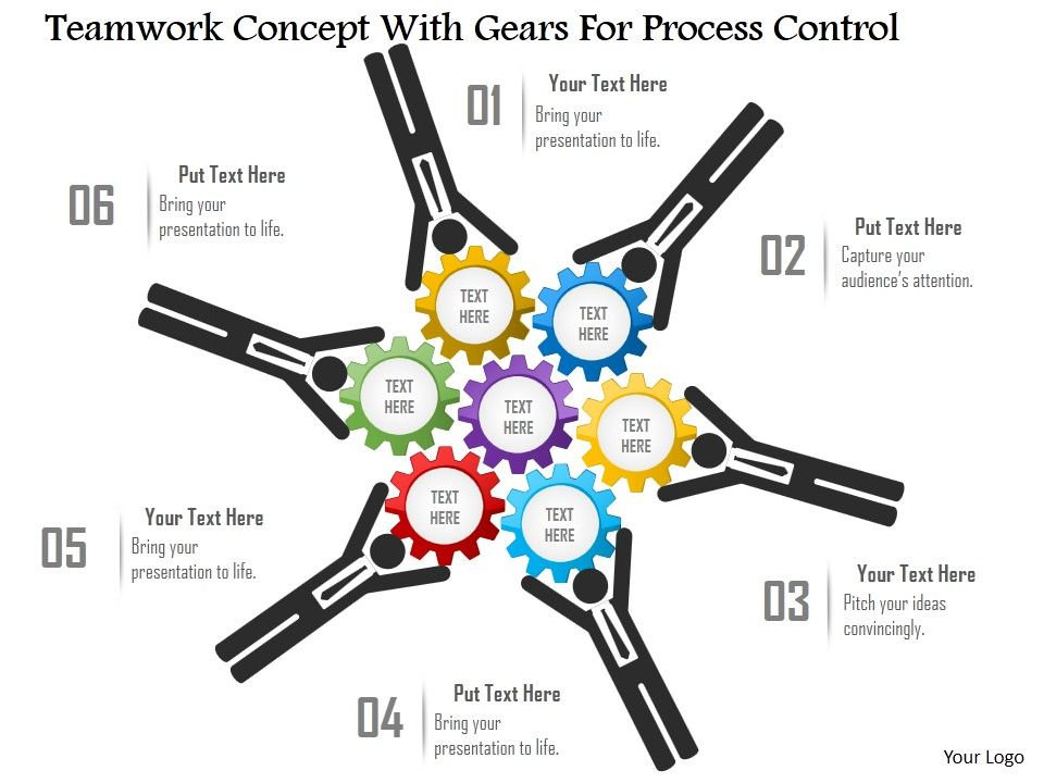 cl teamwork concept with gears for process control