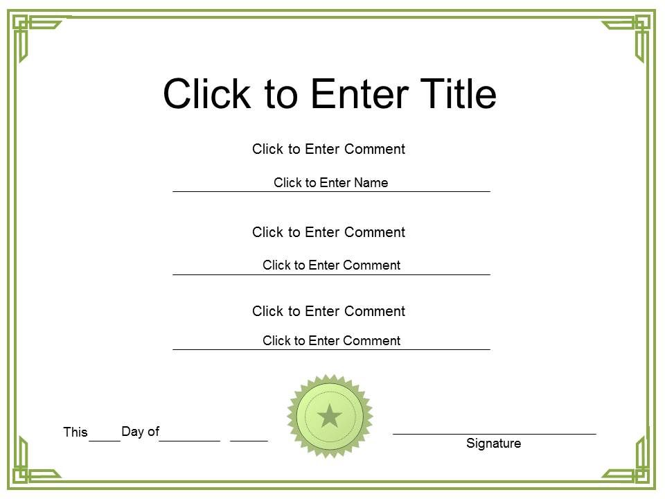 Class Honor diploma Certificate Template of PowerPoint for adults – Powerpoint Certificate Template