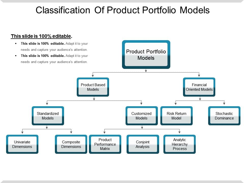 Classification Of Product Portfolio Models Example Of Ppt
