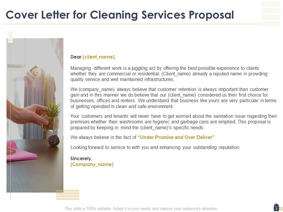 Cleaning Business Proposal Template from www.slideteam.net