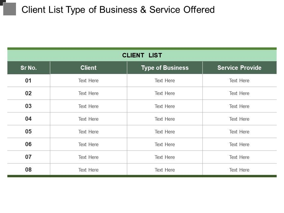 client_list_type_of_business_and_service_offered_Slide01