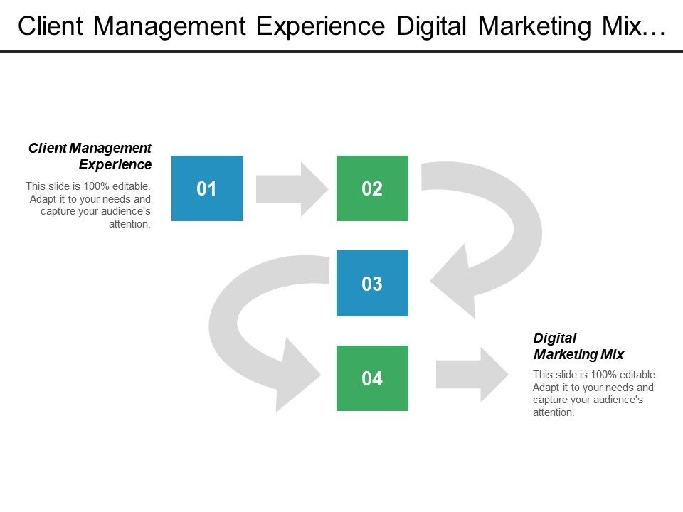 Client Management Experience Digital Marketing Mix Supply