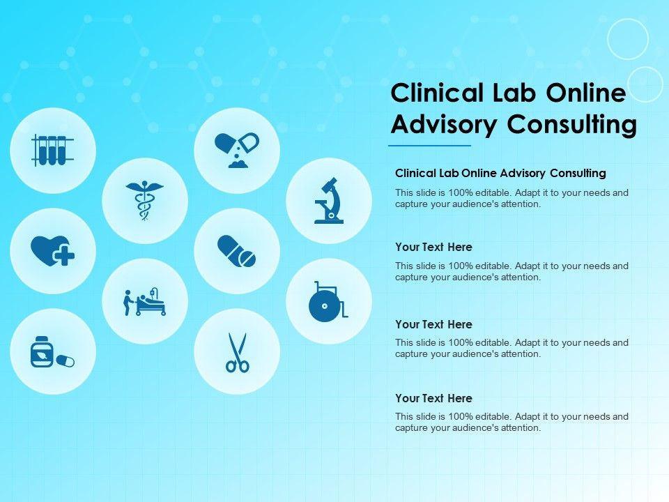 Clinical Lab Online Advisory Consulting Ppt Powerpoint Presentation Portfolio Guidelines