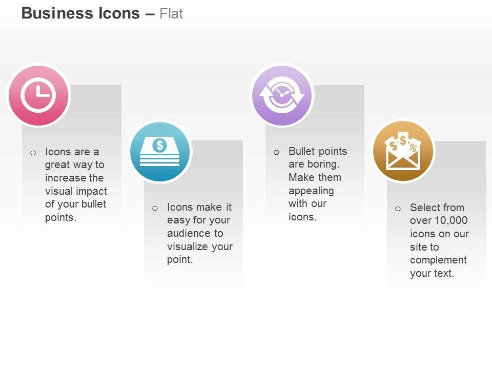 clock_financial_document_process_flow_email_listing_ppt_icons_graphics_Slide01