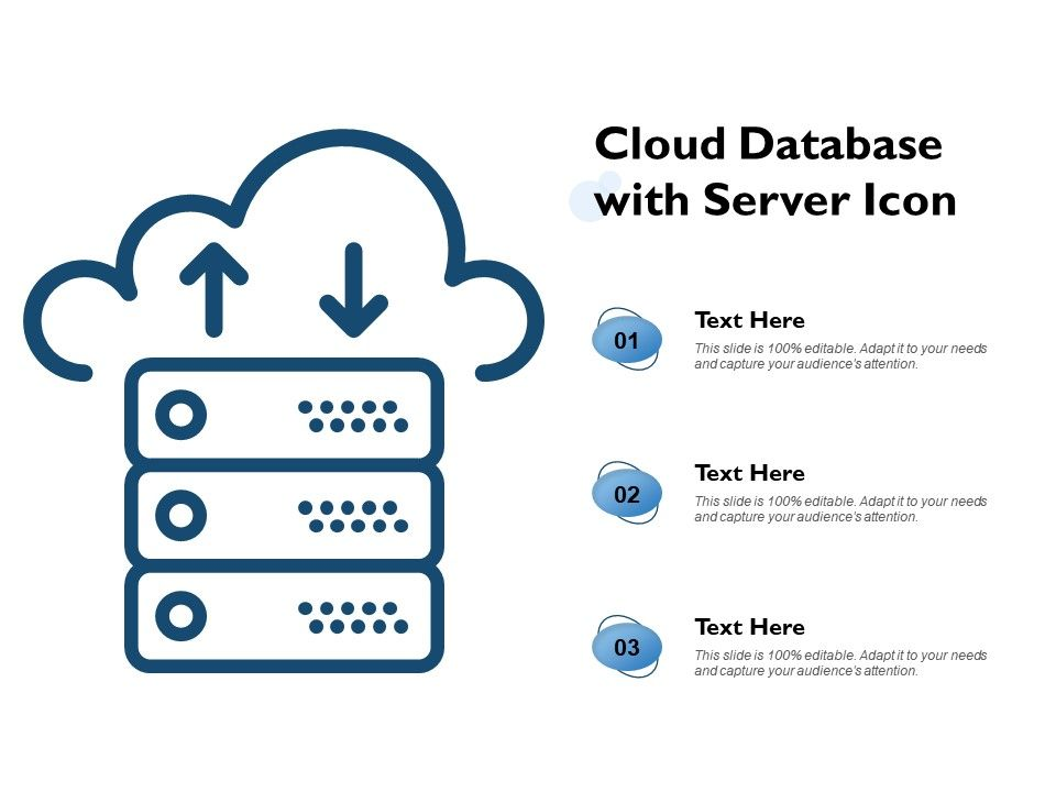 Cloud Database With Server Icon