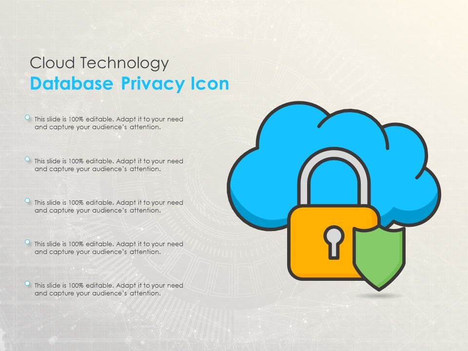 Cloud Technology Database Privacy Icon