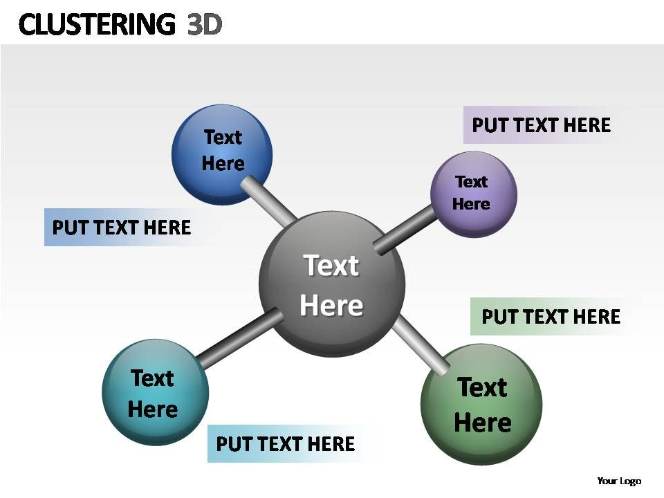 clustering 3d powerpoint presentation slides powerpoint slide
