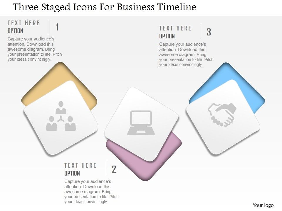 Cm Three Staged Icons For Business Timeline Powerpoint