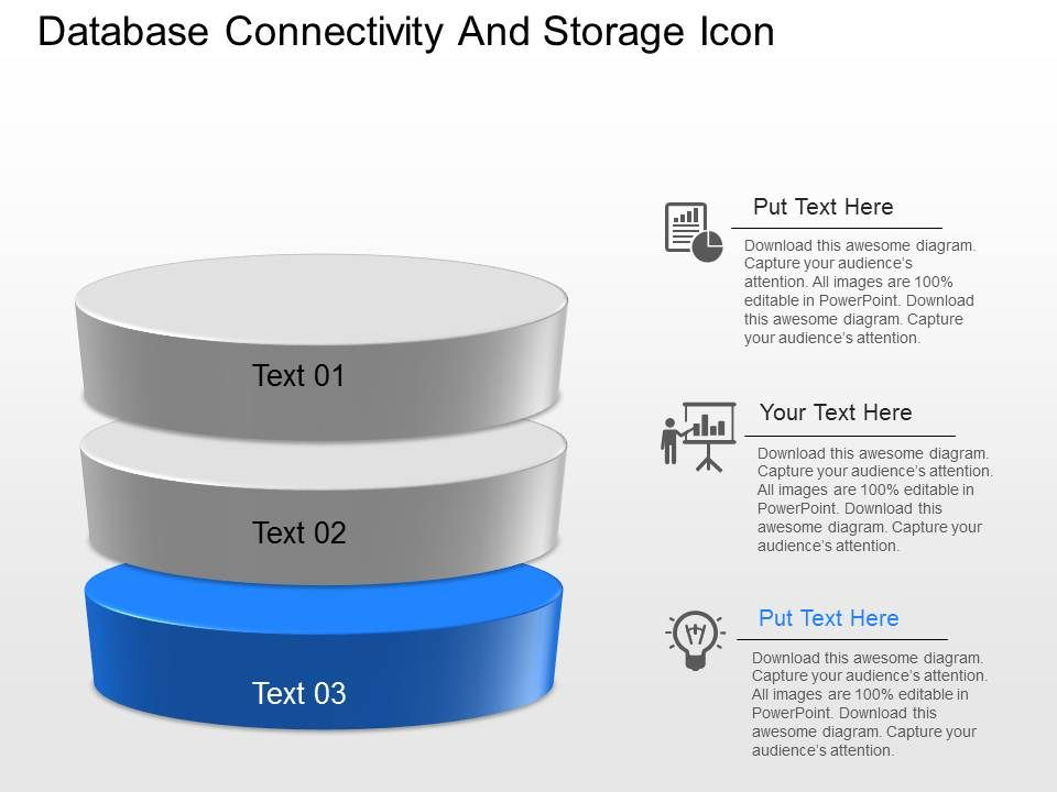 cn database connectivity and storage icons powerpoint template, Database Presentation Template, Presentation templates