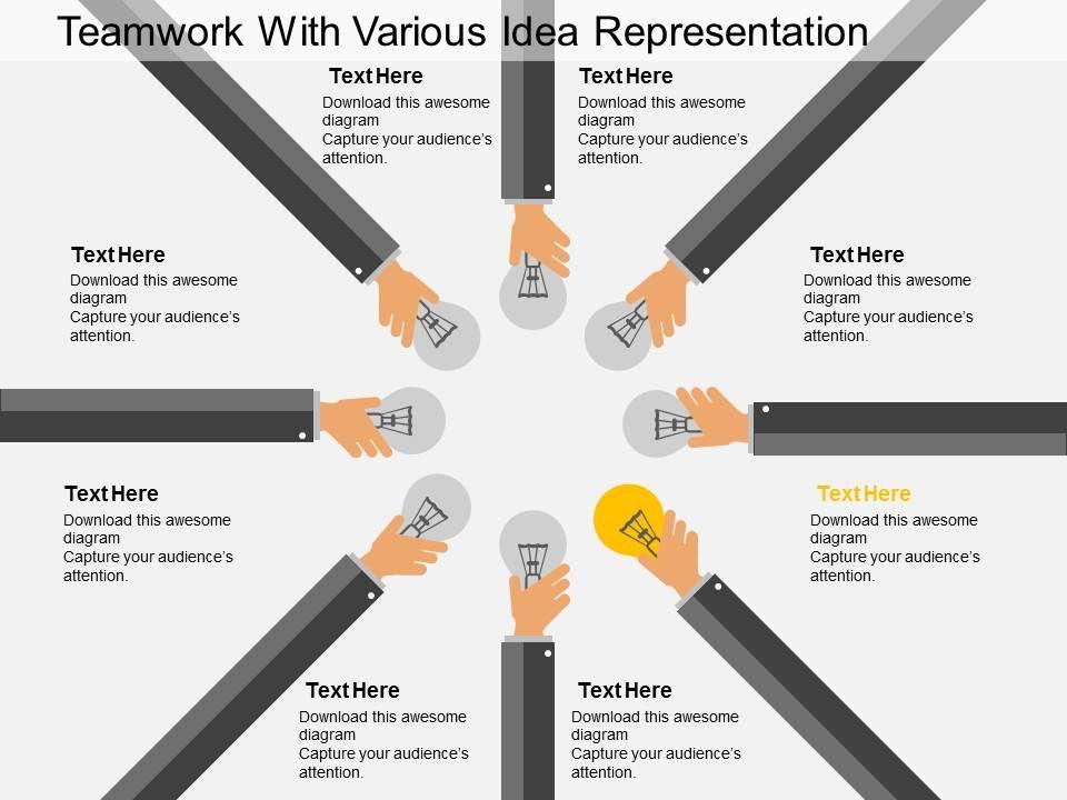 cn_teamwork_with_various_idea_representation_flat_powerpoint_design_Slide01