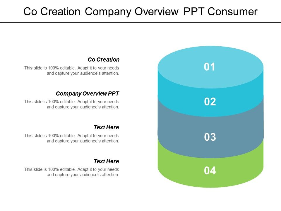co_creation_company_overview_ppt_consumer_review_core_marketing_cpb_Slide01