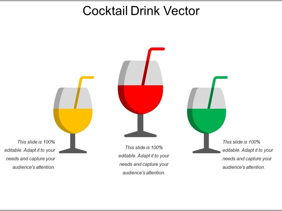Cocktail Drink Vector | PowerPoint Presentation Images ...