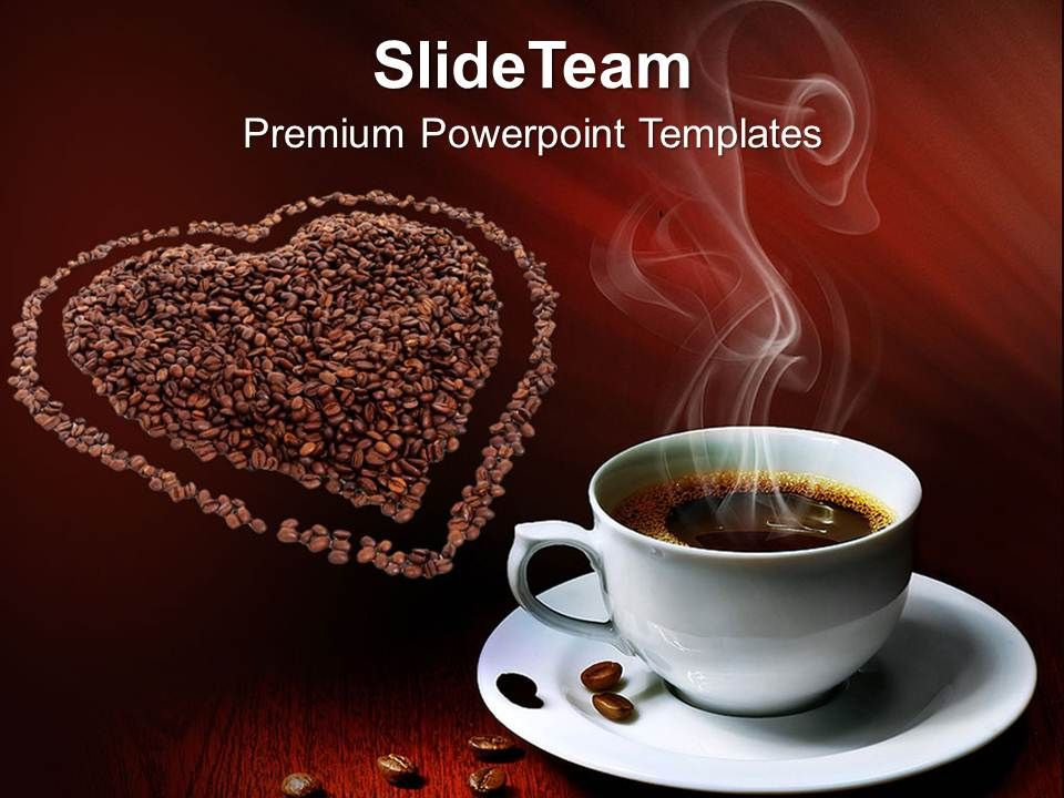 Coffee beans with love entertainment powerpoint templates ppt themes