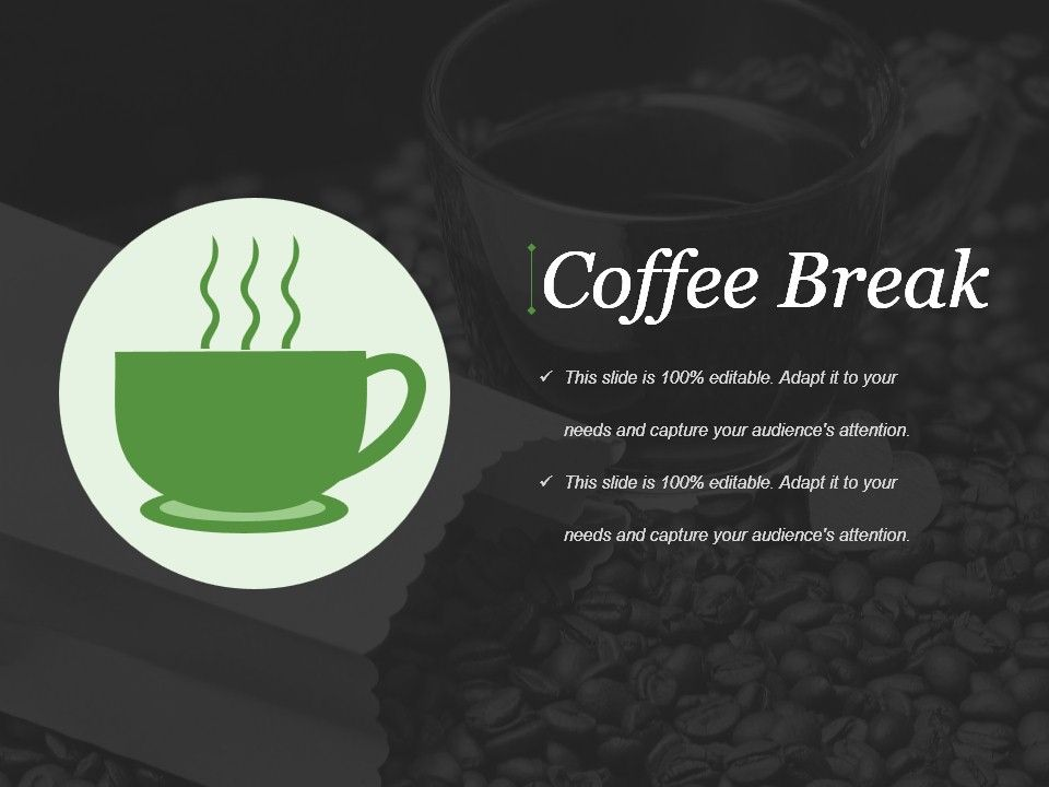 coffee break powerpoint presentation examples | graphics, Powerpoint templates