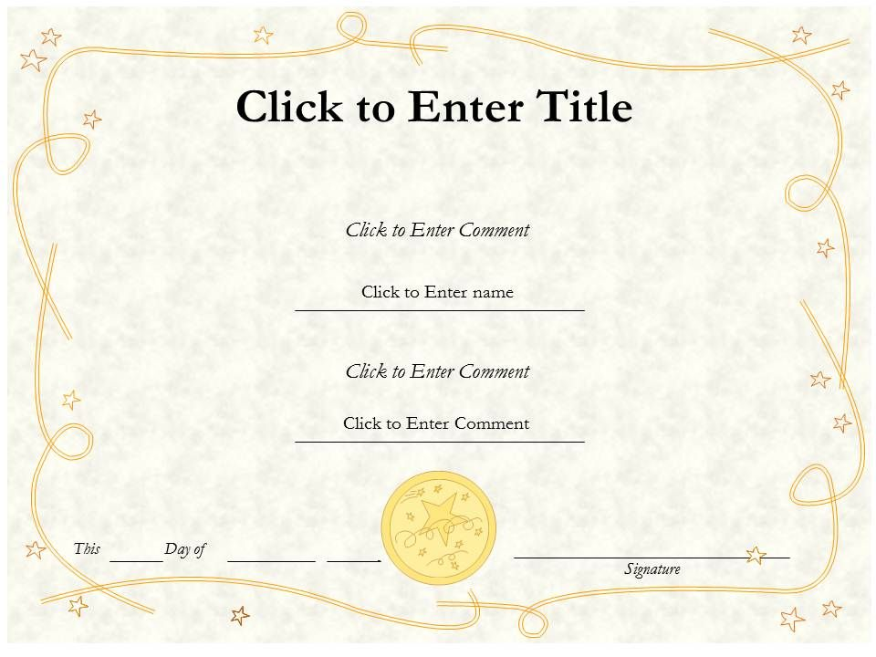 College Diploma Certificate Template Of Honor Completion Point For Kids Slide01