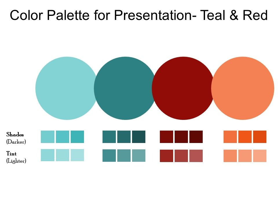 Color Palette For Presentation Teal And Red   Template ...