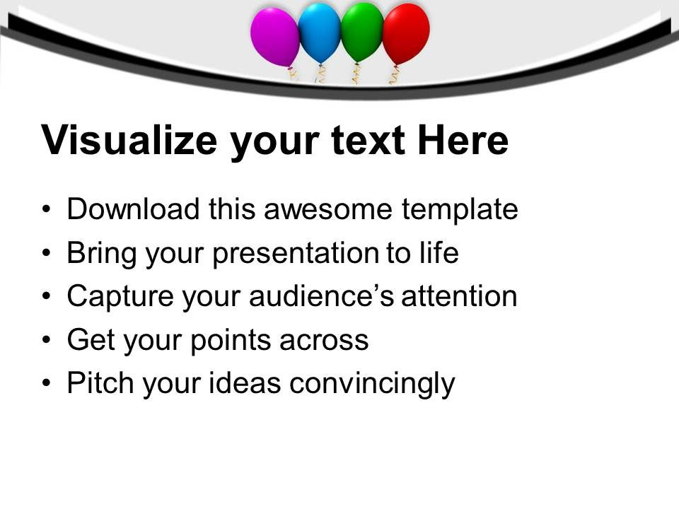 Colorful Balloons Birthday Party Powerpoint Templates Ppt