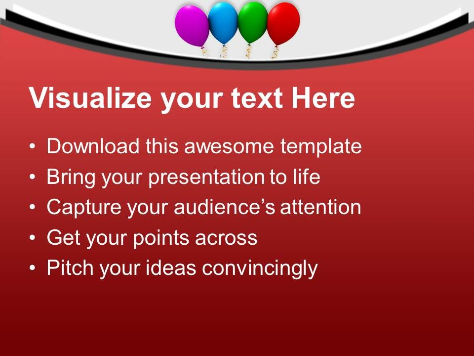 Colorful Balloons Birthday Party PowerPoint Templates PPT ...