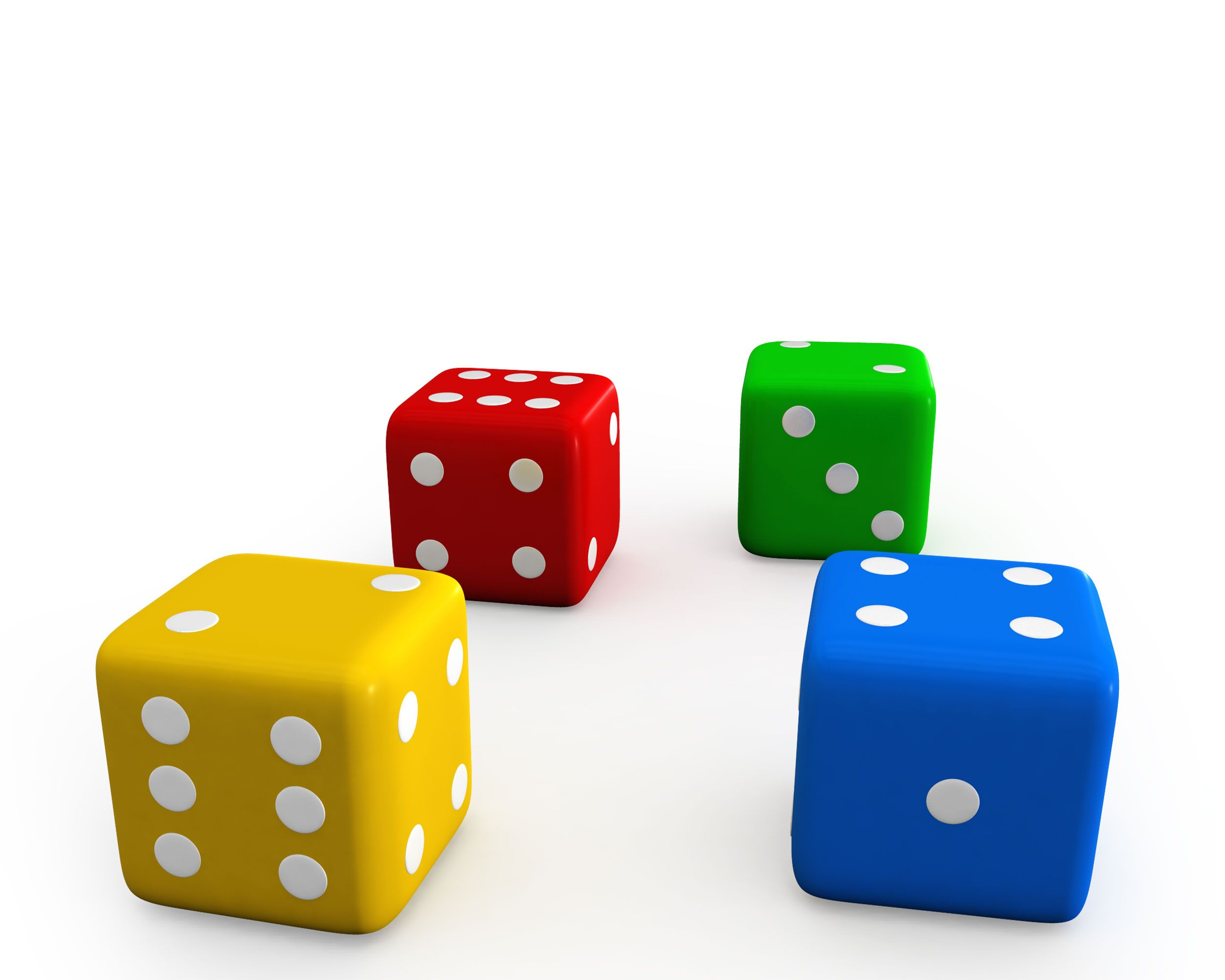 Colorful Dices Showing Concept Of Kids Games Stock Photo