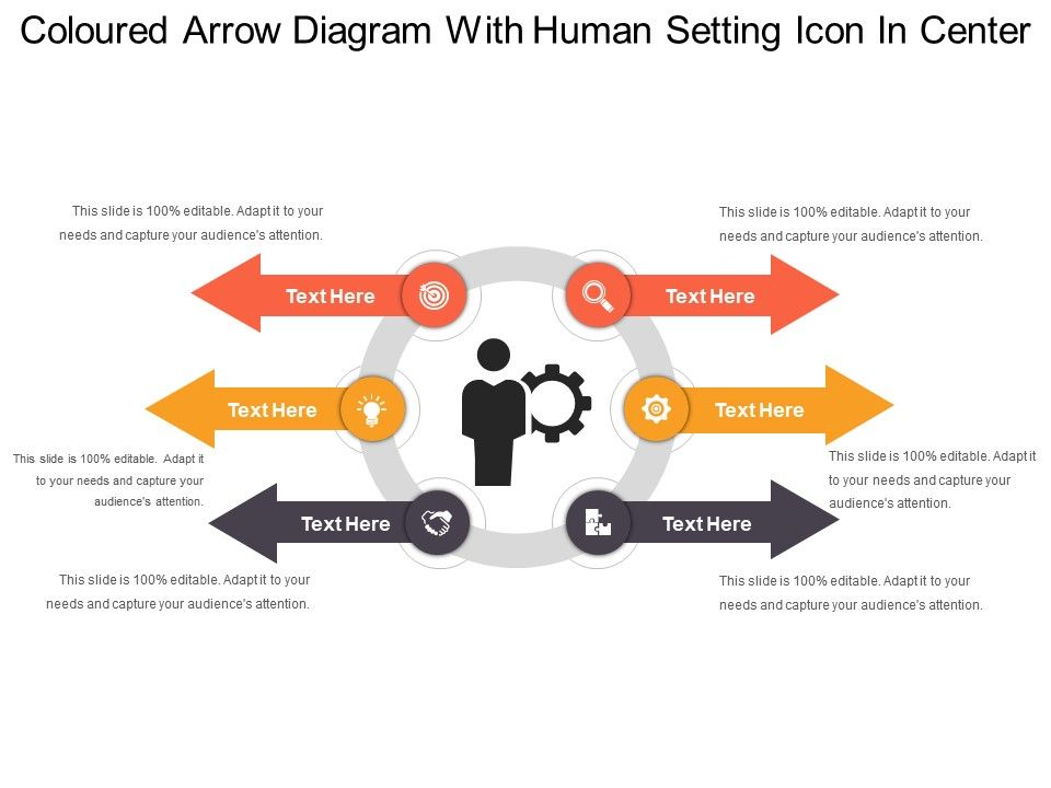 Coloured arrow diagram with human setting icon in center templates colouredarrowdiagramwithhumansettingiconincenterslide01 colouredarrowdiagramwithhumansettingiconincenterslide02 ccuart Image collections