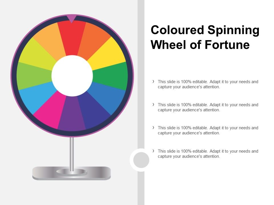 Coloured Spinning Wheel Of Fortune | PowerPoint Shapes