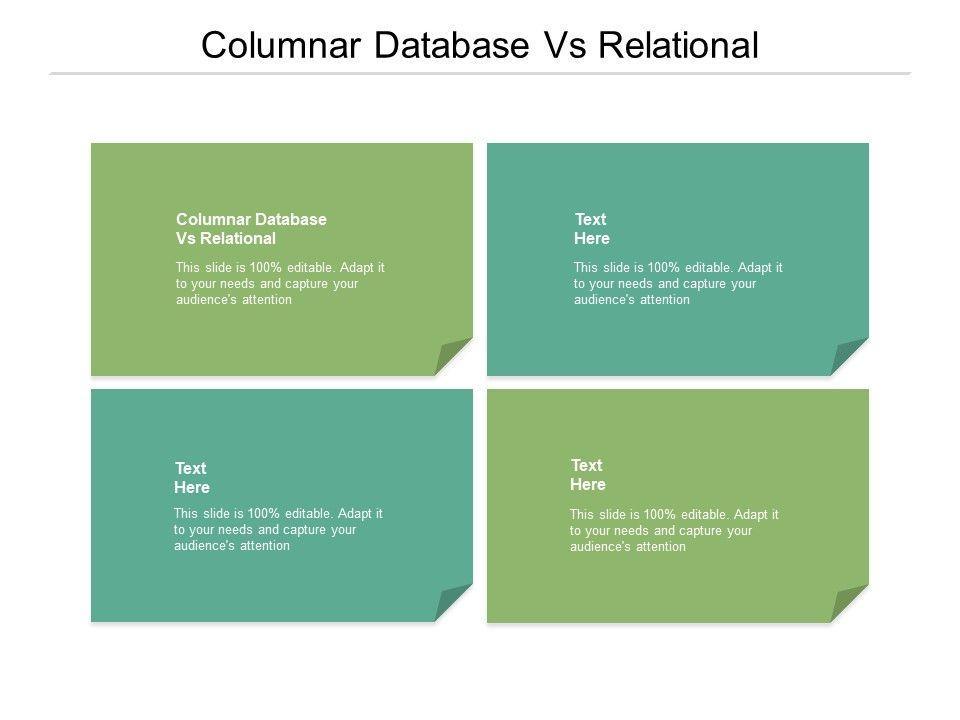Columnar Database Vs Relational Ppt Powerpoint Presentation Inspiration Display Cpb