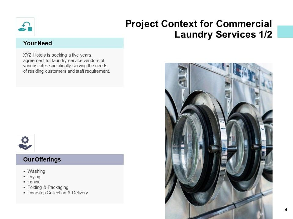 Commercial Laundry Service Proposal Powerpoint Presentation Slides Powerpoint Presentation Designs Slide Ppt Graphics Presentation Template Designs
