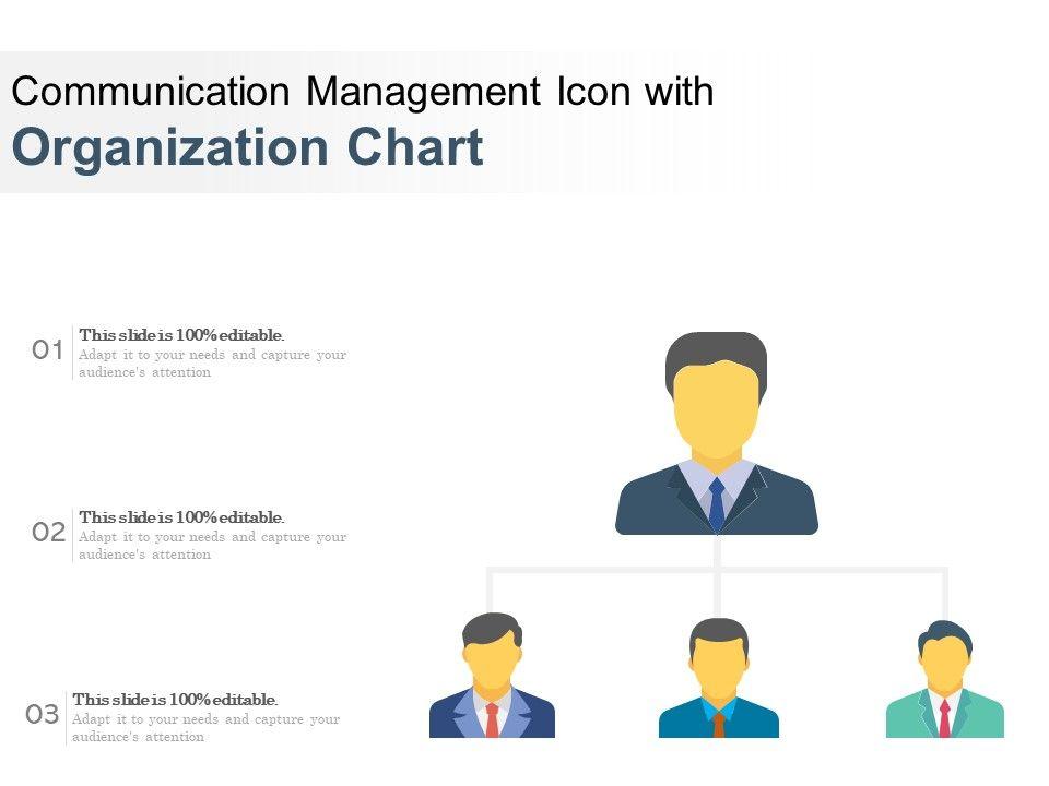 Communication Management Icon With Organization Chart