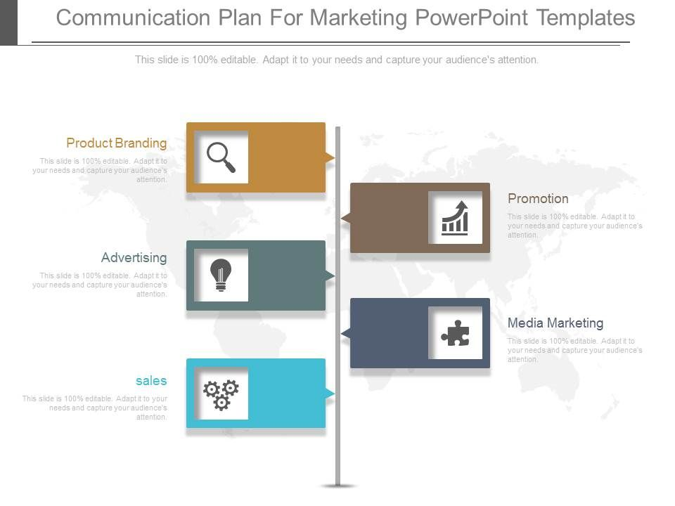 Communication Plan For Marketing Powerpoint Templates Template
