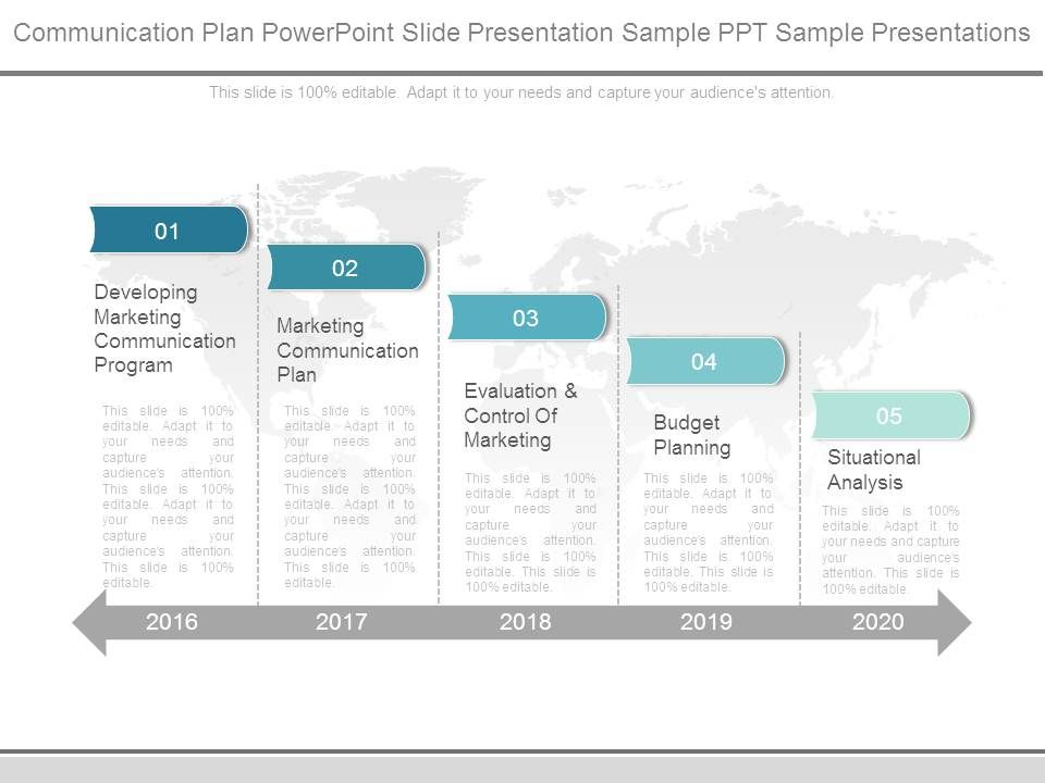 communication plan powerpoint slide presentation sample ppt sample