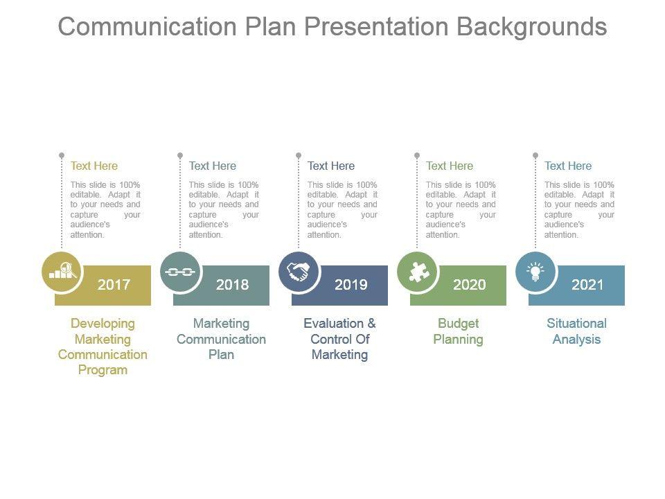 communication plan presentation backgrounds | powerpoint templates, Modern powerpoint