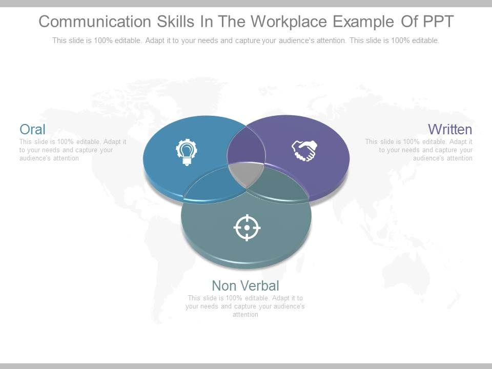 Communication Skills In The Workplace Example Of Ppt  Powerpoint