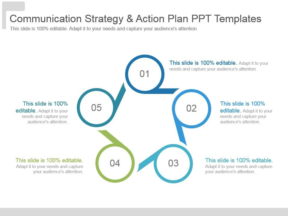 communication strategy and action plan ppt templates powerpoint