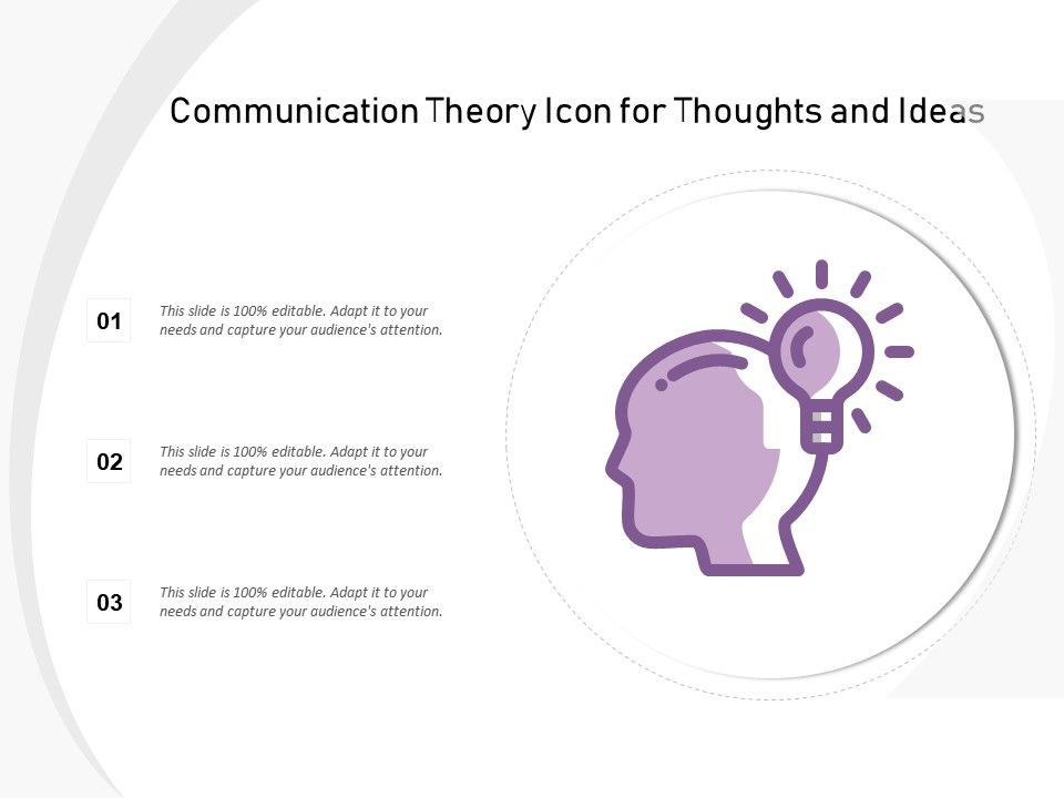 Communication Theory Icon For Thoughts And Ideas