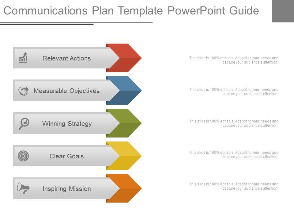 Communications Plan Template Powerpoint Guide | PowerPoint