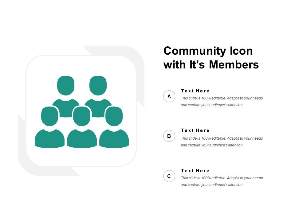 Community Icon With Its Members