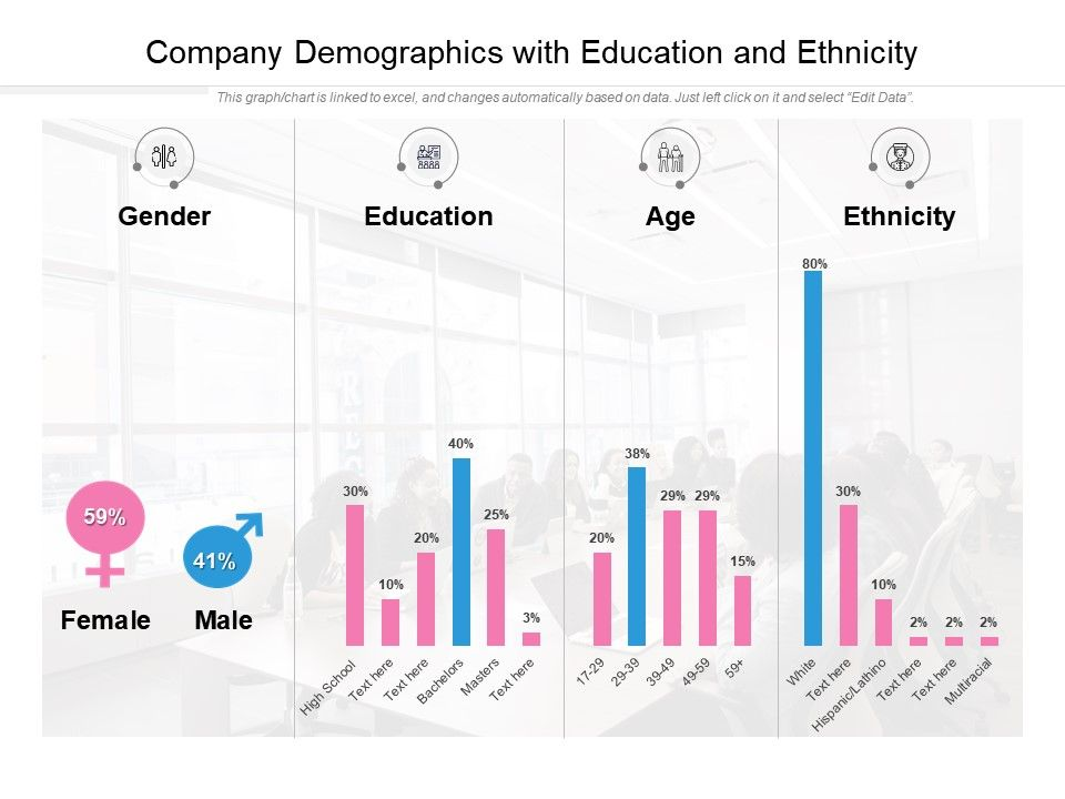 Company Demographics With Education And Ethnicity