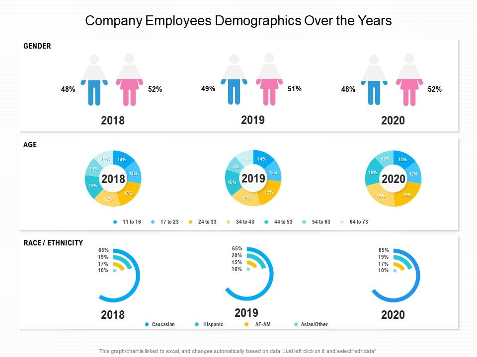 Company Employees Demographics Over The Years