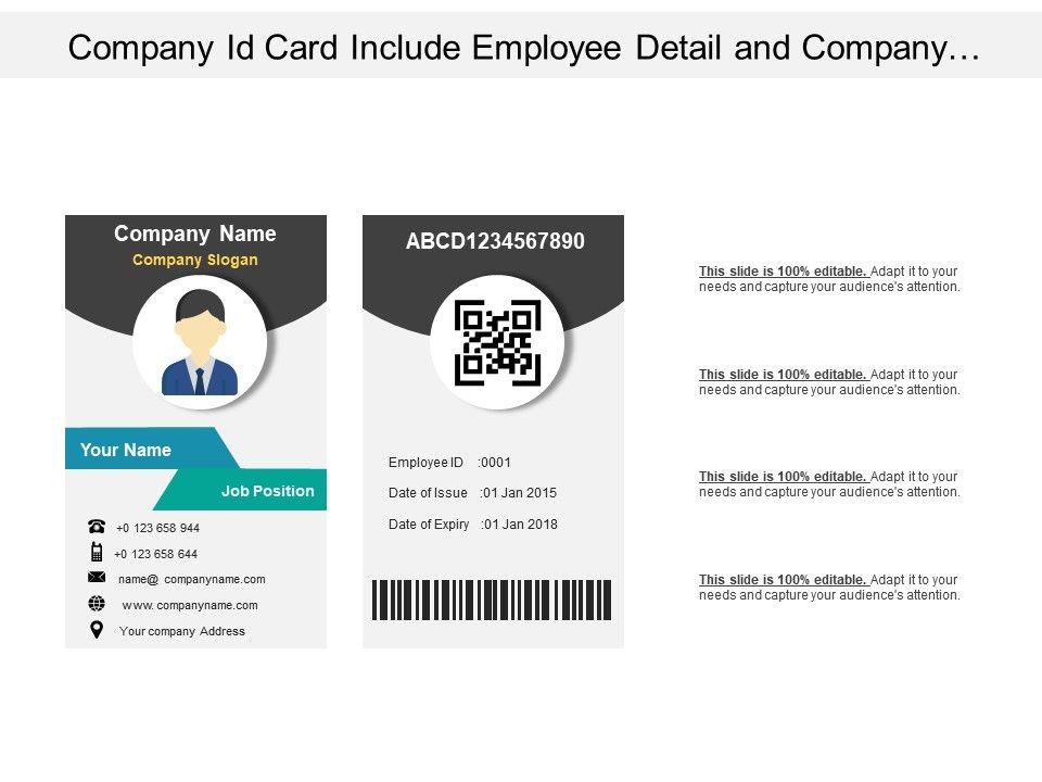 company id card include employee detail and company logo