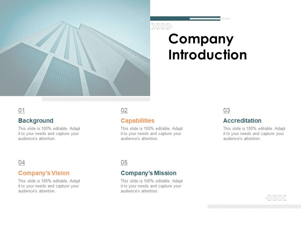 Company Introduction Ppt Powerpoint Presentation Infographic Template Model
