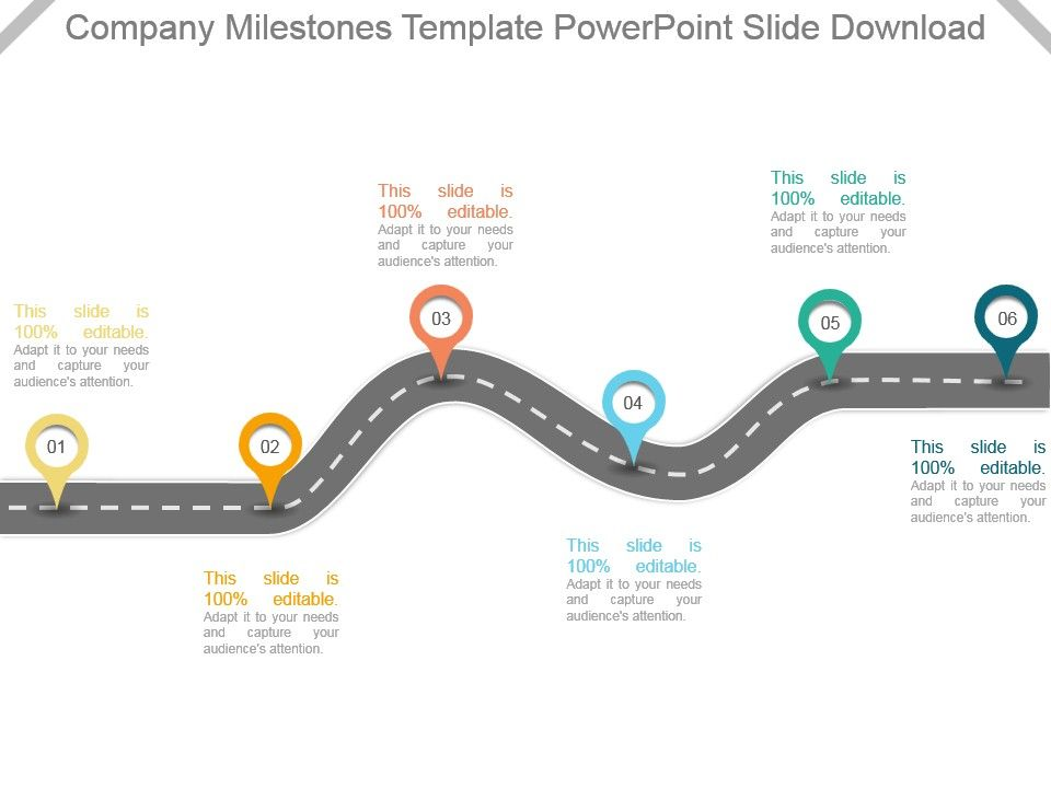 Company Milestones Template Powerpoint Slide Download