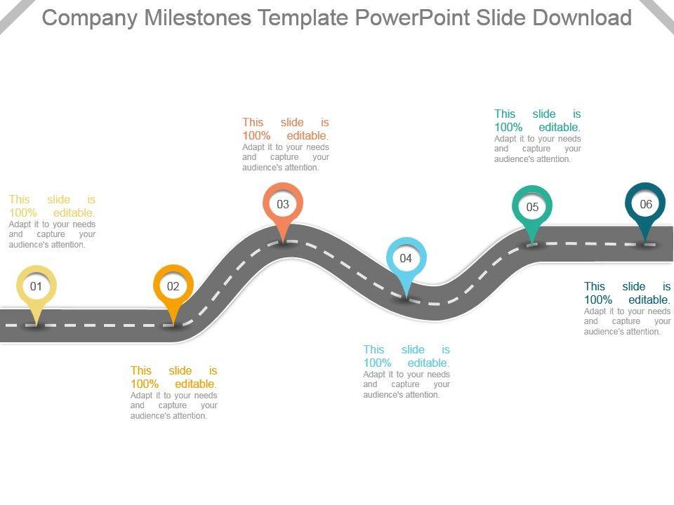 company milestones template powerpoint slide download powerpoint