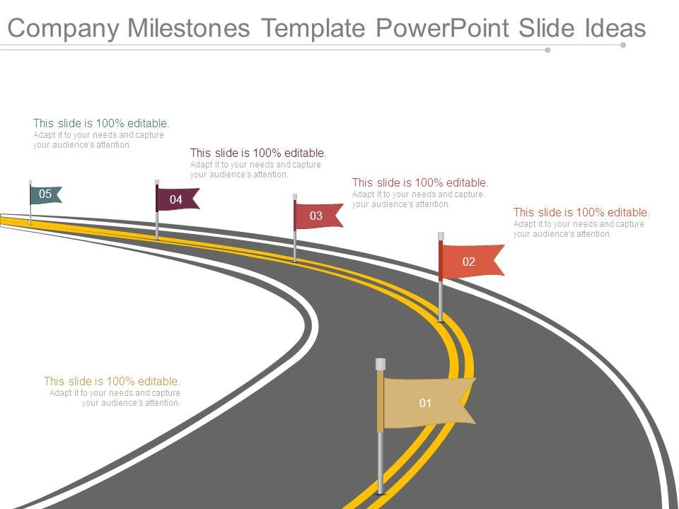 Company Milestones Template Powerpoint Slide Ideas Templates