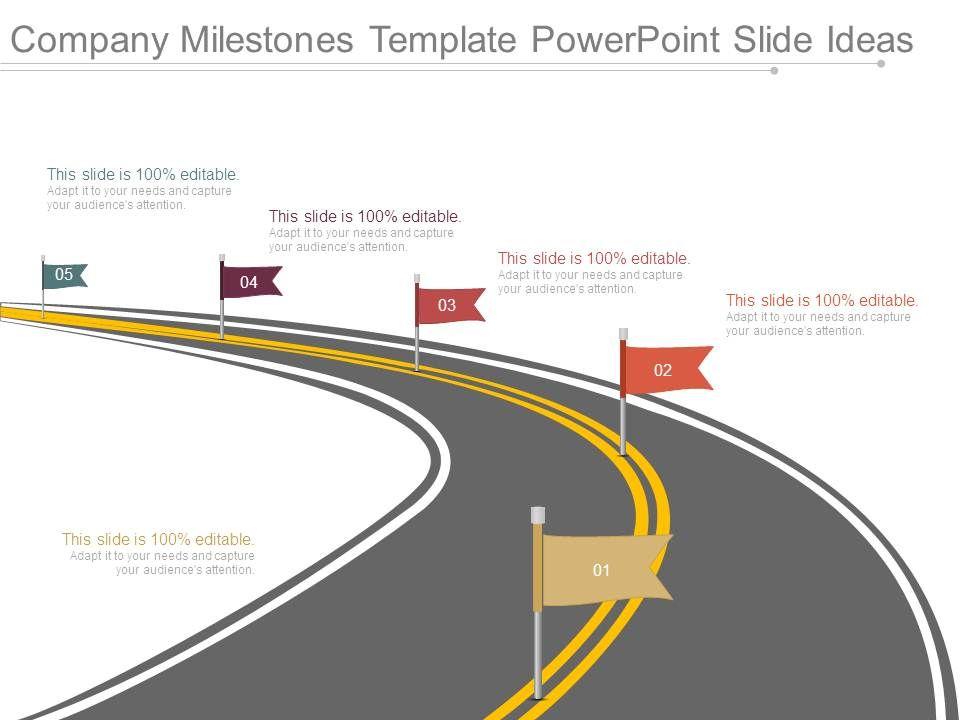 Company Milestones Template Powerpoint Slide Ideas Slide01 Slide02