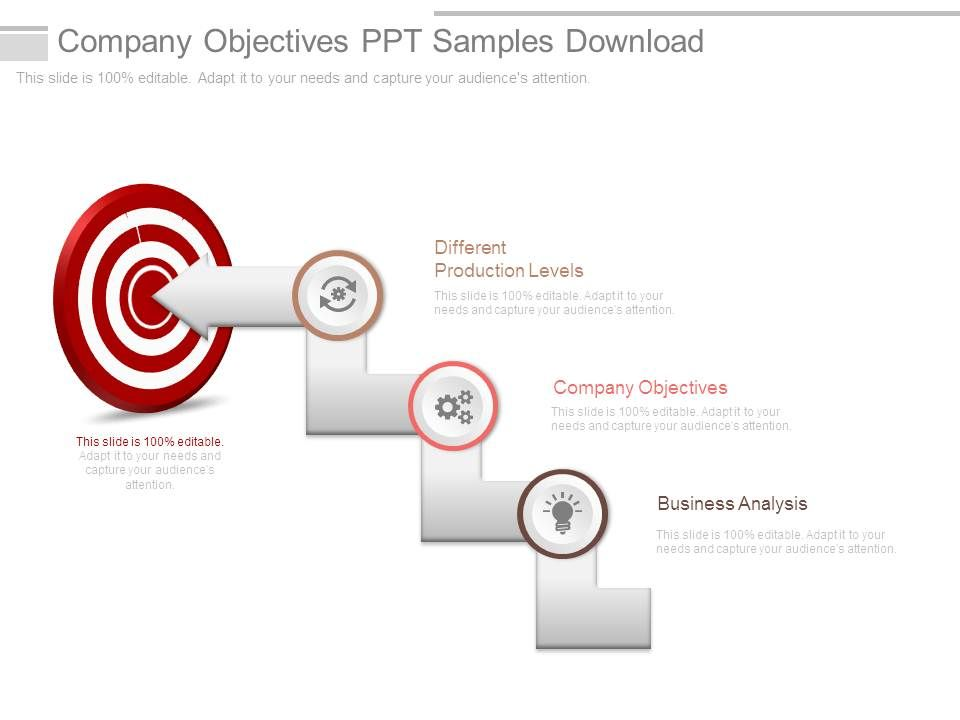company objectives ppt samples download powerpoint slide clipart